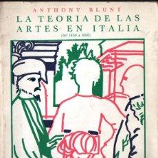 Libros de segunda mano: BLUNT : TEORÍA DE LAS ARTES EN ITALIA DE 1450 A 1600 (CÁTEDRA, 1985). Lote 243592810
