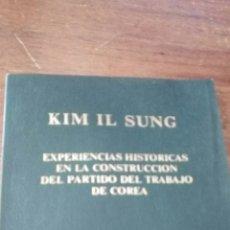 Libros de segunda mano: LIBRO KIM IL SUNG 1986. Lote 243612355