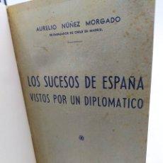 Libros de segunda mano: AL SUCESOS ESPAÑA VISTOS POR UN DIPLOMÁTICO AURELIO NÚÑEZ MORGADO EX EMBAJADOR DE CHILE EN MADRID. Lote 243631270
