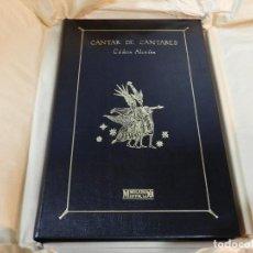 Libros de segunda mano: CANTAR DE CANTARES / ED LUJO ( EN PIEL, NEGRO) CODICE ALCAINS EDITORIAL MOLEIRO NO FACSIMIL. Lote 243801430