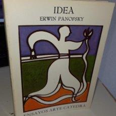 Libros de segunda mano: IDEA CONTRIBUCIÓN A LA HISTORIA DE LA TEORÍA DEL ARTE - PANOFSKY, ERWIN. Lote 243819685