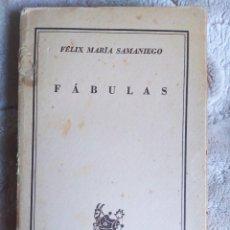 Libros de segunda mano: FÉLIX MARÍA SAMANIEGO - FÁBULAS, 1946 - COLECCIÓN AUSTRAL - ESPASA CALPE. Lote 243830630