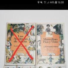 Libros de segunda mano: LOTE 3 LIBROS LAURIN. ANAYA. MARCELINO PAN Y VINO. CUENTOS DE ANTAÑO PERRAULT. MAX Y MORITZ.. Lote 243913235