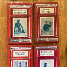 Libros de segunda mano: ¡LIQUIDACION! LOTE 4 TOMOS BIBLIOTECA DEL ELECTRICISTA PRACTICO - GALLACH EDITOR. Lote 243991440