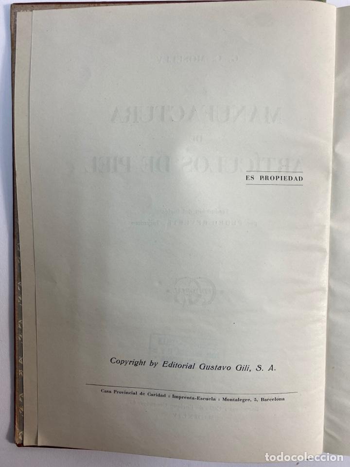 Libros de segunda mano: L-5836. MANUFACTURA DE ARTICULOS DE PIEL. G.C.MOSELEY. ED. GUSTAVO GILI, 1944. - Foto 4 - 244183885
