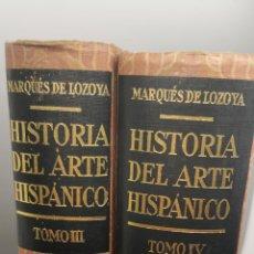 Libros de segunda mano: HISTORIA DEL ARTE HISPANICO TOMOS III Y IV PRIMERA EDICIÓN AÑOS 1940-1945. Lote 244185900