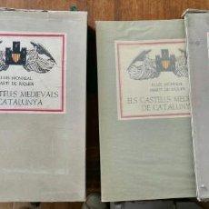 Libros de segunda mano: ELS CASTELLS MEDIEVALS DE CATALUNYA - LLUIS MONREAL MARTÍ DE RIQUER- 2 VOL = 1º-348 1955/2º E- 1958. Lote 244487735