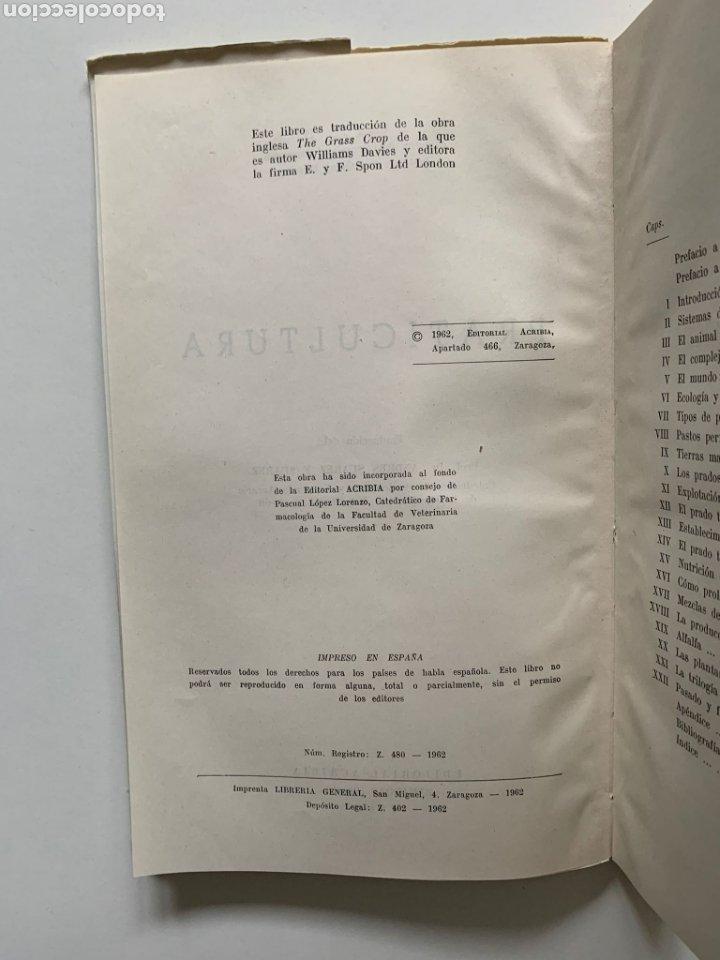 Libros de segunda mano: William Davies. Praticultura. Hierba. Ganadería. Alimentación del ganado. Forraje. Primera edición. - Foto 3 - 244507360