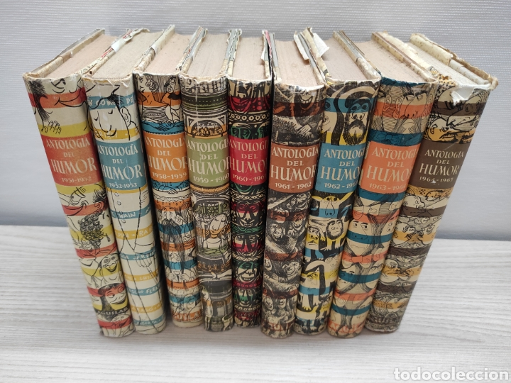 LOTE 9 LIBROS ANTOLOGÍA DEL HUMOR EDITORIAL AGUILAR AÑOS 1951 AL 1965 (Libros de Segunda Mano (posteriores a 1936) - Literatura - Otros)