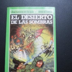 Libros de segunda mano: LOBO SOLITARIO. Nº5. EL DESIERTO DE LAS SOMBRAS. LIBROJUEGO. Lote 244535375