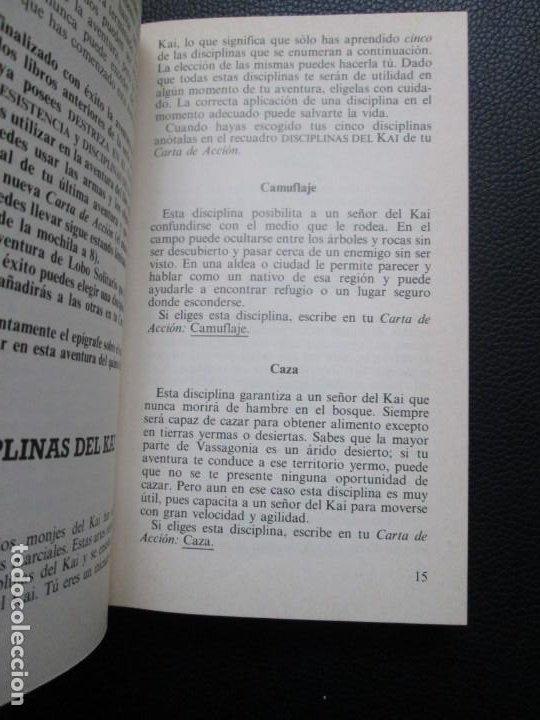 Libros de segunda mano: Lobo Solitario. Nº5. El Desierto de las Sombras. Librojuego - Foto 2 - 244535375