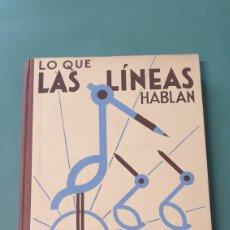 Libros de segunda mano: LO QUE LAS LÍNEAS HABLAN DE ROBERTO LAMBRY MÉTODO DE DIBUJO BASTINOS 1935. Lote 244676555