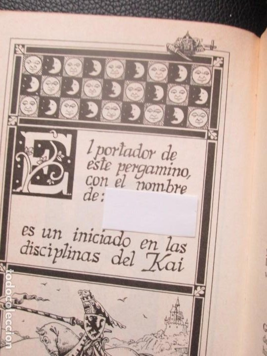 Libros de segunda mano: Lobo Solitario. Nº5. El Desierto de las Sombras. Librojuego - Foto 9 - 244535375