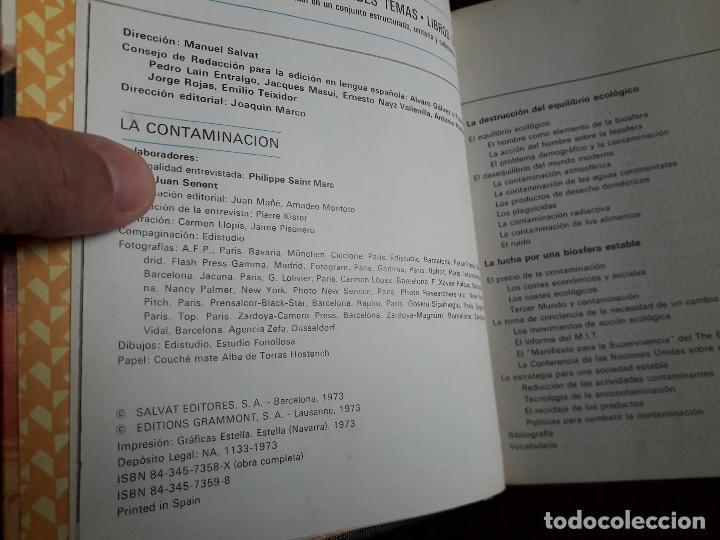 Libros de segunda mano: libro usado, la contaminación, biblioteca Salvat de grandes temas. - Foto 2 - 244722955