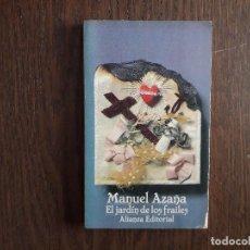 Libros de segunda mano: LIBRO USADO, EL JARDÍN DE LOS FRAILES, MANUEL AZAÑA. ALIANZA EDITORIAL.. Lote 244723205