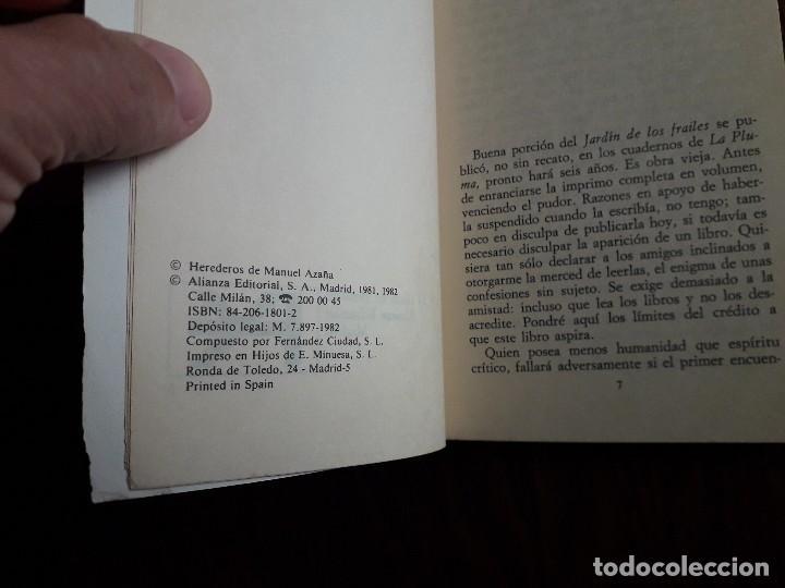 Libros de segunda mano: libro usado, El jardín de los frailes, Manuel Azaña. Alianza editorial. - Foto 2 - 244723205