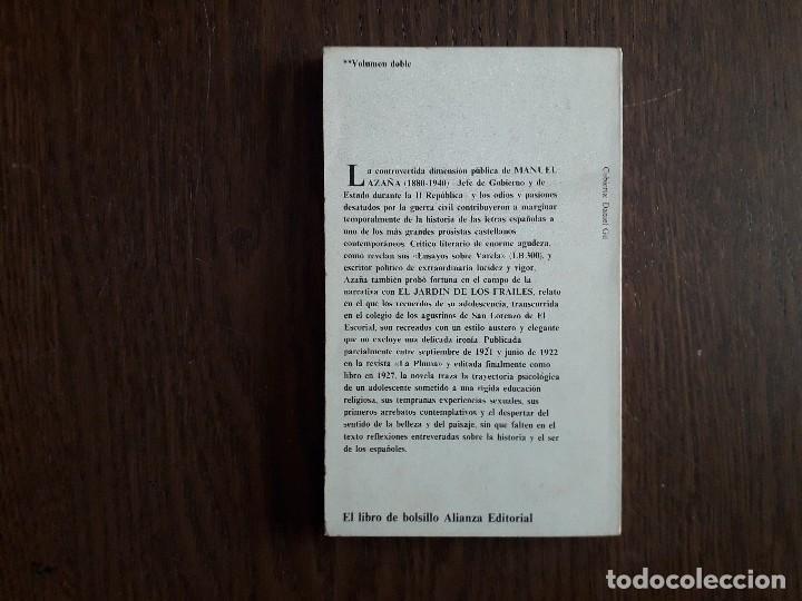 Libros de segunda mano: libro usado, El jardín de los frailes, Manuel Azaña. Alianza editorial. - Foto 3 - 244723205