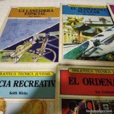 Libri di seconda mano: 8 LIBROS BIBLIOTECA TECNICA JUVENIL MARCOMBO - ¡¡¡ HOY ÚLTIMO DÍA !!!. Lote 244757210