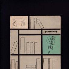 Libros de segunda mano: RADIO Y ELECTRICIDAD - ENSAYO BIBLIOGRAFICO OBRAS TECNICAS - EDITORIAL PARANINFO 1965. Lote 244837300