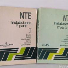 Libros de segunda mano: NTE INSTALACIONES (1ª Y 2ª PARTE) / MOPT / 5ª EDICIÓN. NORMAS TÉCNICAS.. Lote 244851150