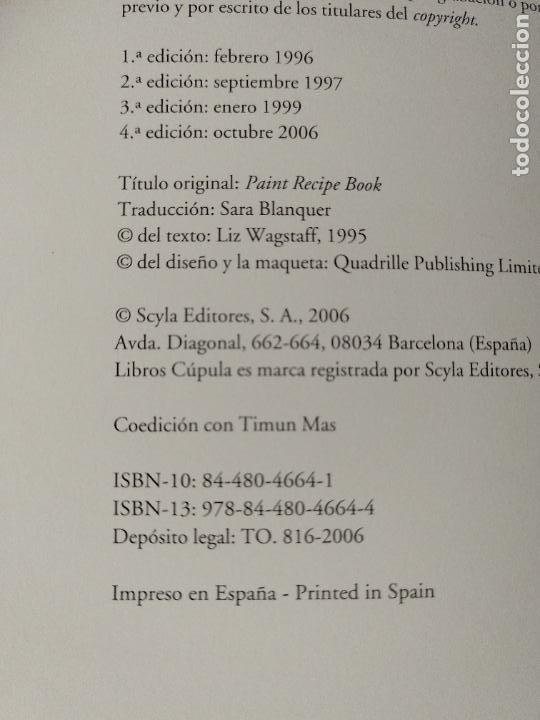 Libros de segunda mano: 150 fórmulas de pintura decorativa. El manual más completo de acabados de pintura. Liz Wagstaff. - Foto 3 - 244880525