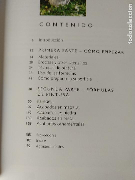 Libros de segunda mano: 150 fórmulas de pintura decorativa. El manual más completo de acabados de pintura. Liz Wagstaff. - Foto 4 - 244880525