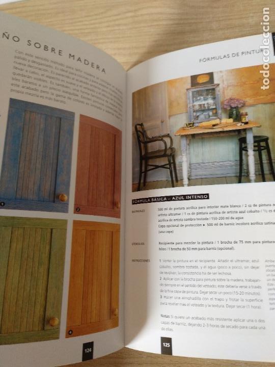 Libros de segunda mano: 150 fórmulas de pintura decorativa. El manual más completo de acabados de pintura. Liz Wagstaff. - Foto 8 - 244880525