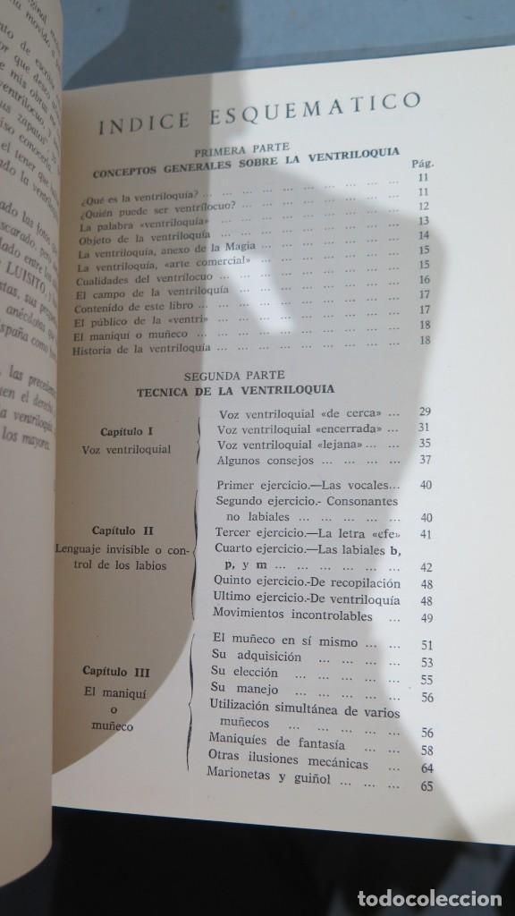 Libros de segunda mano: LA VENTRILOQUIA. ESE ARTE AL ALCANCE DE TODOS.WENCESLAO CIURO - Foto 2 - 244906375