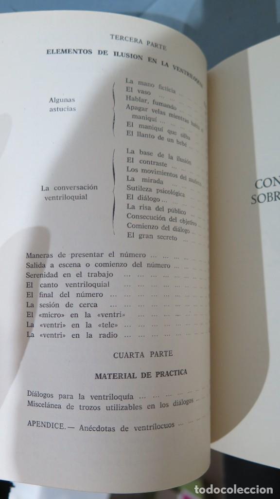 Libros de segunda mano: LA VENTRILOQUIA. ESE ARTE AL ALCANCE DE TODOS.WENCESLAO CIURO - Foto 3 - 244906375