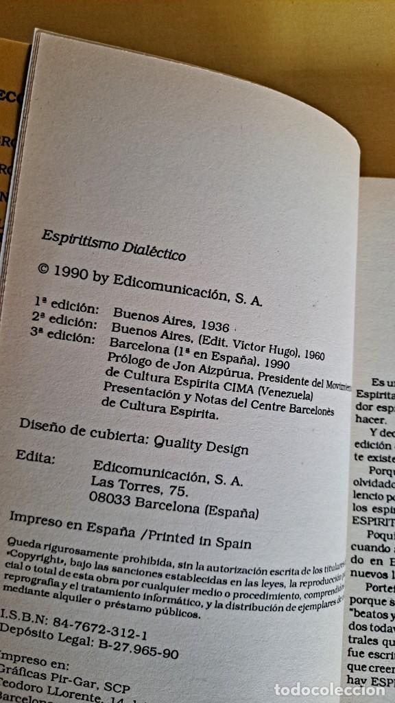 Libros de segunda mano: MANUEL S. PORTEIRO - ESPIRITISMO DIALÉCTICO - EDICOMUNICACION 1990 - Foto 3 - 244962620