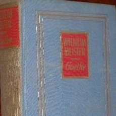 Libros de segunda mano: WILHELM MEISTER - GOETHE. Lote 245012440