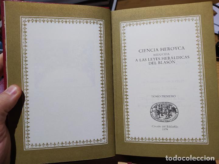 Libros de segunda mano: Ciencia Heroyca del blasón, facsímil de la de 1780. Tirada limitada y numerada. nº 414, 1979 RARO - Foto 8 - 245061345
