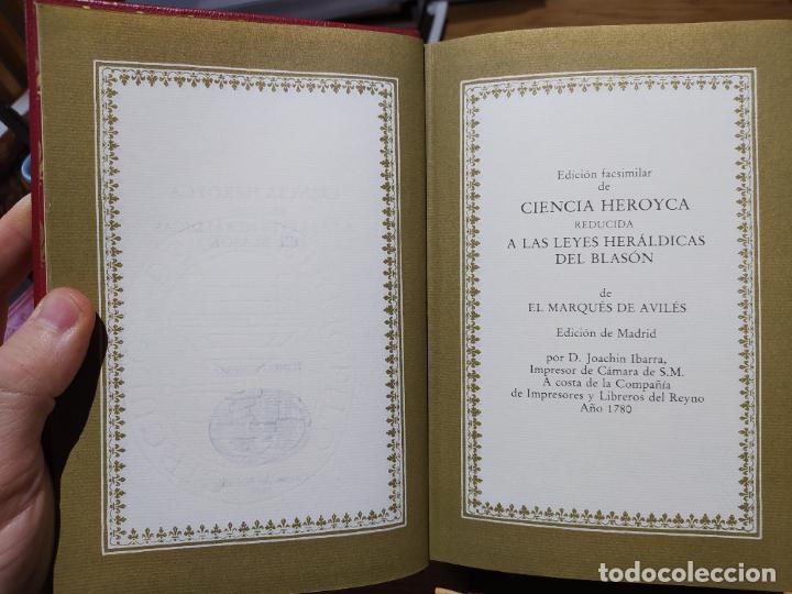 Libros de segunda mano: Ciencia Heroyca del blasón, facsímil de la de 1780. Tirada limitada y numerada. nº 414, 1979 RARO - Foto 9 - 245061345