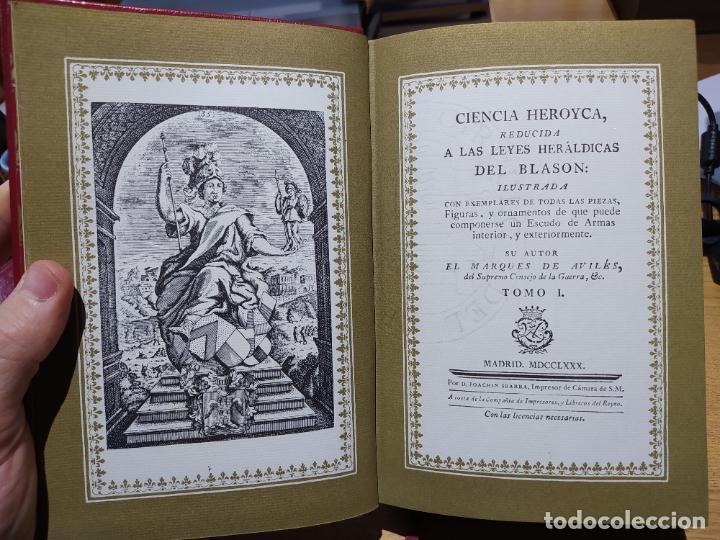 Libros de segunda mano: Ciencia Heroyca del blasón, facsímil de la de 1780. Tirada limitada y numerada. nº 414, 1979 RARO - Foto 10 - 245061345