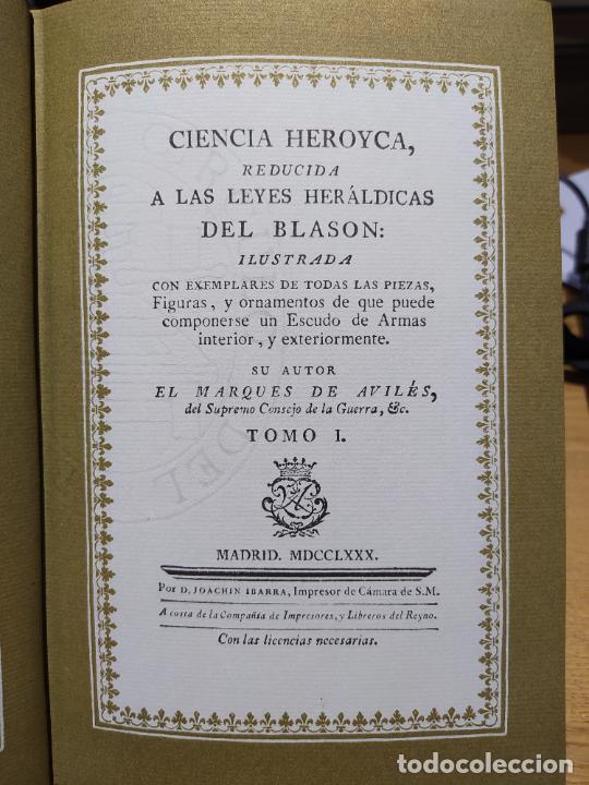 Libros de segunda mano: Ciencia Heroyca del blasón, facsímil de la de 1780. Tirada limitada y numerada. nº 414, 1979 RARO - Foto 11 - 245061345