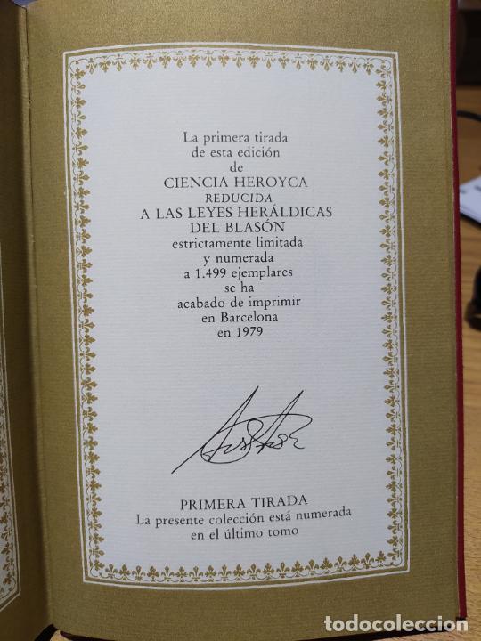Libros de segunda mano: Ciencia Heroyca del blasón, facsímil de la de 1780. Tirada limitada y numerada. nº 414, 1979 RARO - Foto 13 - 245061345