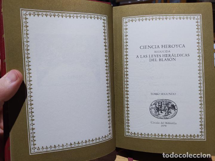 Libros de segunda mano: Ciencia Heroyca del blasón, facsímil de la de 1780. Tirada limitada y numerada. nº 414, 1979 RARO - Foto 15 - 245061345
