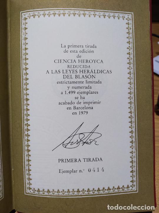 Libros de segunda mano: Ciencia Heroyca del blasón, facsímil de la de 1780. Tirada limitada y numerada. nº 414, 1979 RARO - Foto 20 - 245061345