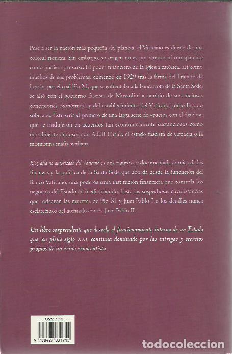 Libros de segunda mano: Santiago Camacho-Biografía no autorizada del Vaticano.Dimensiones.Martinez Roca.2005. - Foto 2 - 245202170
