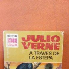 Libros de segunda mano: A TRAVES DE LA ESTEPA. JULIO VERNE. EDICION ILUSTRADA.. Lote 245209955