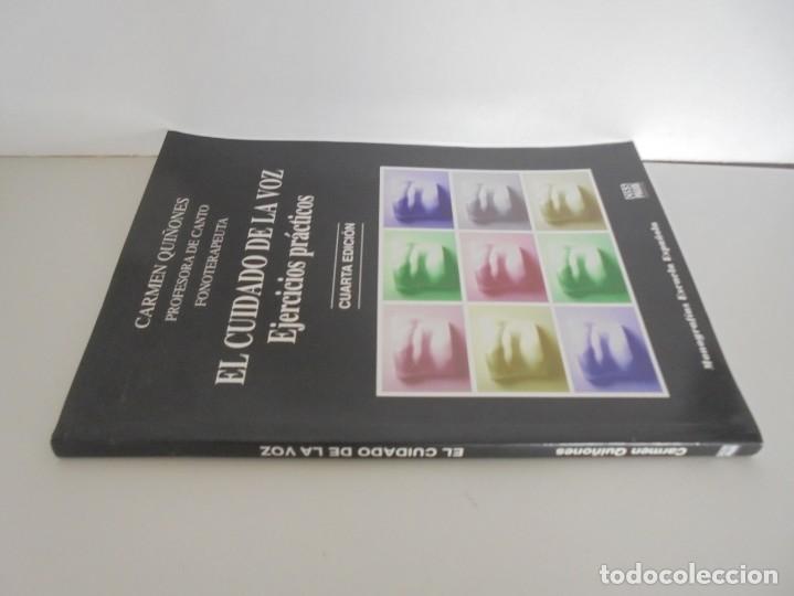 Libros de segunda mano: EL CUIDADO DE LA VOZ. EJERCICIOS PRACTICOS. CARMEN QUIÑONES. CISSPRAXIS. 2001. - Foto 2 - 245217670