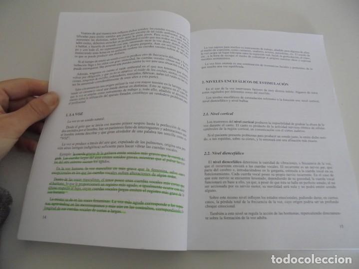 Libros de segunda mano: EL CUIDADO DE LA VOZ. EJERCICIOS PRACTICOS. CARMEN QUIÑONES. CISSPRAXIS. 2001. - Foto 7 - 245217670