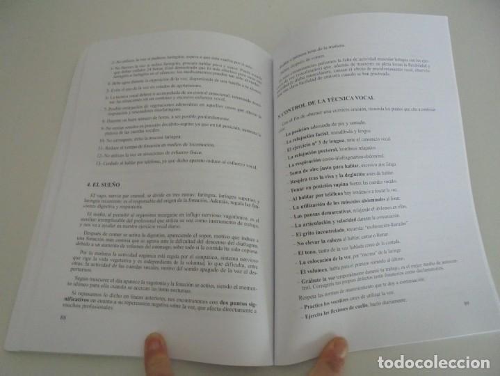 Libros de segunda mano: EL CUIDADO DE LA VOZ. EJERCICIOS PRACTICOS. CARMEN QUIÑONES. CISSPRAXIS. 2001. - Foto 11 - 245217670