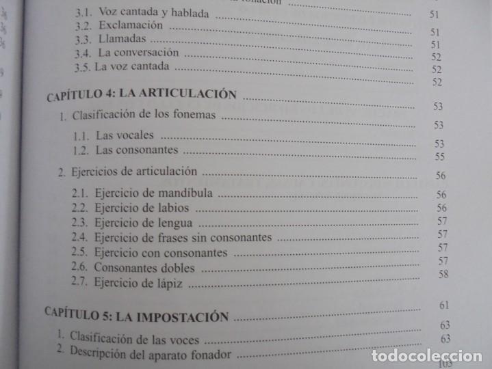 Libros de segunda mano: EL CUIDADO DE LA VOZ. EJERCICIOS PRACTICOS. CARMEN QUIÑONES. CISSPRAXIS. 2001. - Foto 17 - 245217670