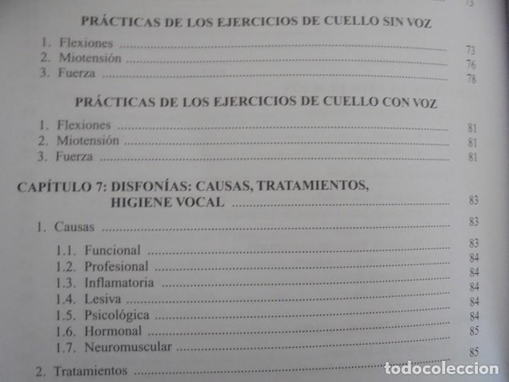 Libros de segunda mano: EL CUIDADO DE LA VOZ. EJERCICIOS PRACTICOS. CARMEN QUIÑONES. CISSPRAXIS. 2001. - Foto 19 - 245217670