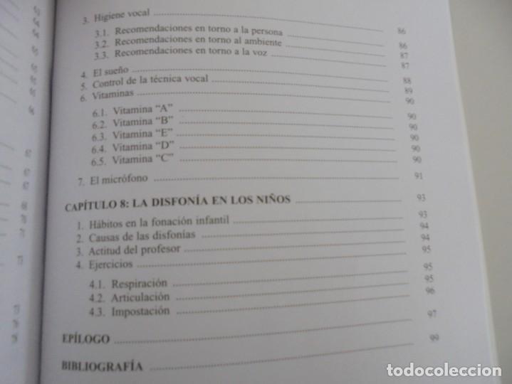 Libros de segunda mano: EL CUIDADO DE LA VOZ. EJERCICIOS PRACTICOS. CARMEN QUIÑONES. CISSPRAXIS. 2001. - Foto 20 - 245217670