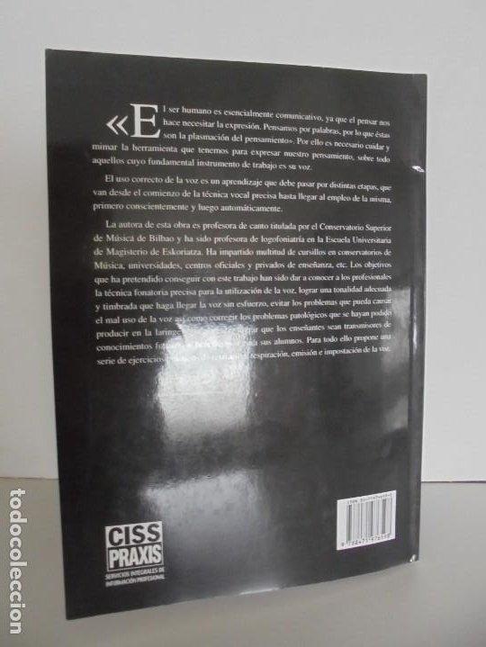 Libros de segunda mano: EL CUIDADO DE LA VOZ. EJERCICIOS PRACTICOS. CARMEN QUIÑONES. CISSPRAXIS. 2001. - Foto 22 - 245217670