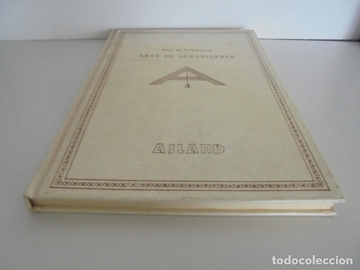 Libros de segunda mano: ARTE DE ALBAÑILERIA. JUAN DE VILLANUEVA. ASLAND. EDICIONES VELAZQUEZ. FACSIMIL. 1977 - Foto 3 - 245218500