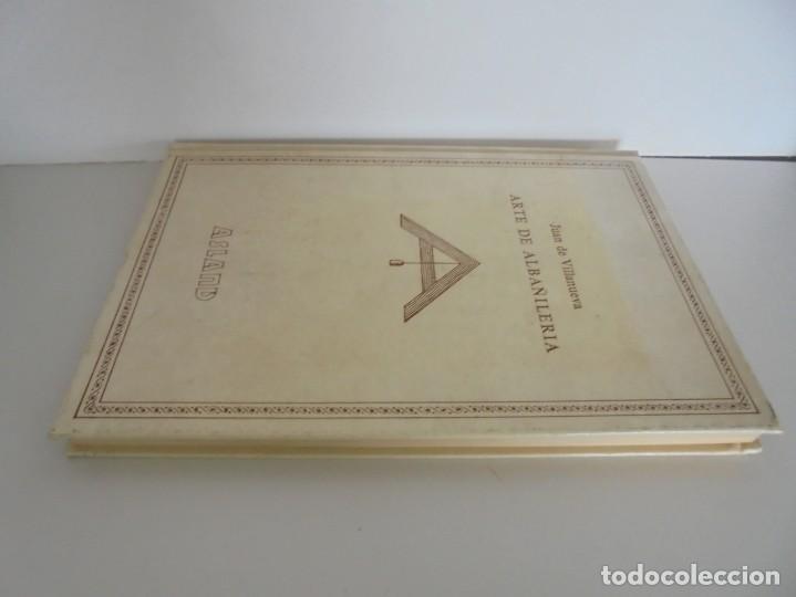 Libros de segunda mano: ARTE DE ALBAÑILERIA. JUAN DE VILLANUEVA. ASLAND. EDICIONES VELAZQUEZ. FACSIMIL. 1977 - Foto 4 - 245218500