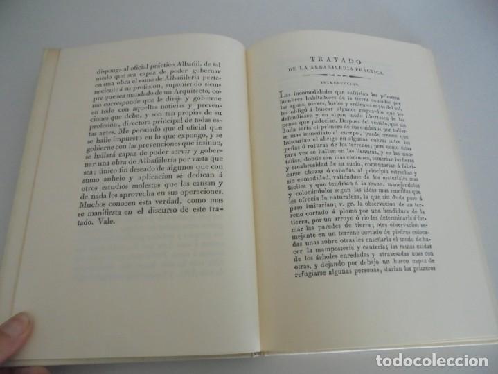 Libros de segunda mano: ARTE DE ALBAÑILERIA. JUAN DE VILLANUEVA. ASLAND. EDICIONES VELAZQUEZ. FACSIMIL. 1977 - Foto 9 - 245218500